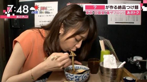【擬似フェラ画像】食レポやってる女性タレントの口元と表情がエロくておもわず口マンコ犯したくなるww 17