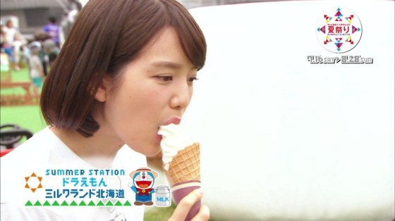 【擬似フェラ画像】エロすぎる顔で食レポする女子アナ達のこの表情を見てやってくれwww