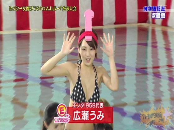 【お宝エロ画像】女優だらけのスカパー水泳大会!乳首映りまくりでもはや笑うしかないww(水中騎馬戦編) 15