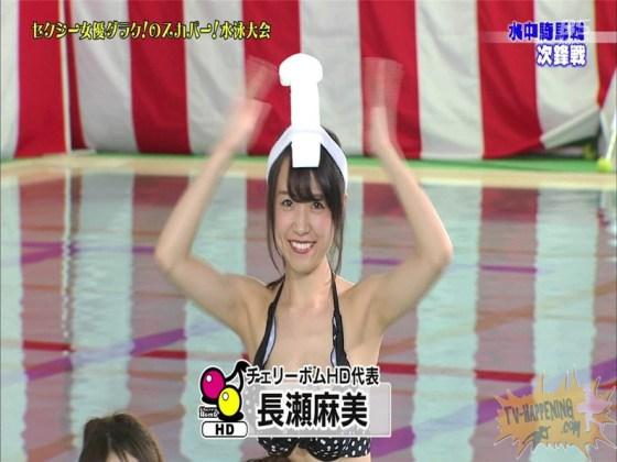 【お宝エロ画像】女優だらけのスカパー水泳大会!乳首映りまくりでもはや笑うしかないww(水中騎馬戦編) 16