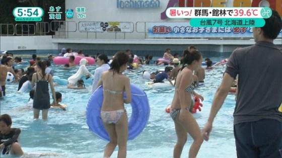 【お尻キャプ画像】テレビ見てたら水着美女のお尻が水着からハミ尻しまくってたww 11