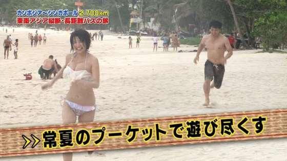 【水着キャプ画像】グラドルでも素人でもとりあえず巨乳美女の水着姿は視聴率がいいらしいw 20