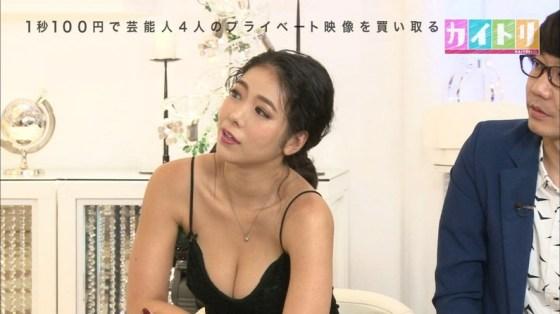 【胸ちらキャプ画像】最近のテレビではオッパイは見せる物だと考えてるタレント達ww