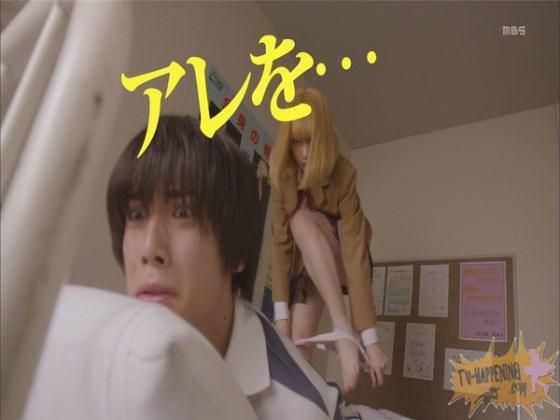 【お宝エロ画像】監獄学園第3話!脱衣シーンで女の下着姿映りまくりww 34