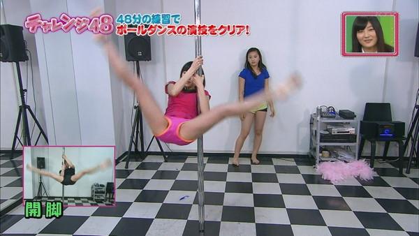 【放送事故画像】ポールダンスお股クパーしてる女の子達がテレビに映されるwww 10