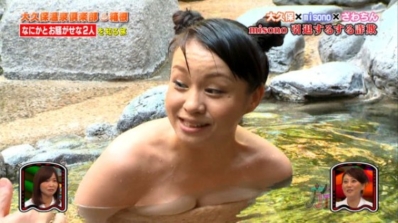 【放送事故画像】温泉レポ―としてる女のバスタオル取れたらいいのにっていつも思ってしまうよなww 13