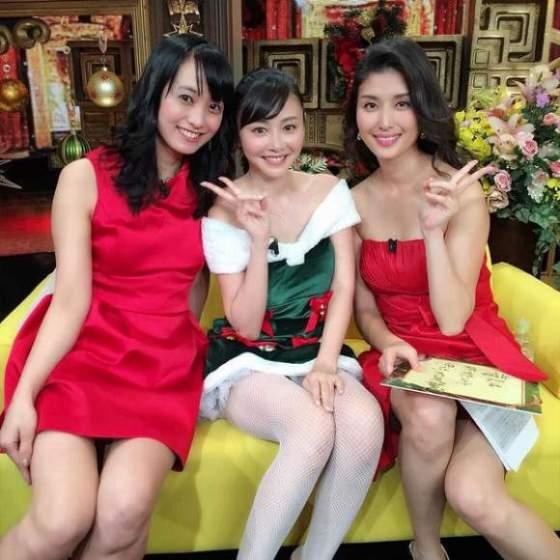【放送事故画像】プレゼントは、わ、た、し♡女子アナやアイドル達のサンタコス画像www 04