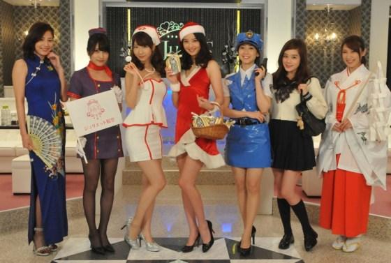 【放送事故画像】プレゼントは、わ、た、し♡女子アナやアイドル達のサンタコス画像www 16