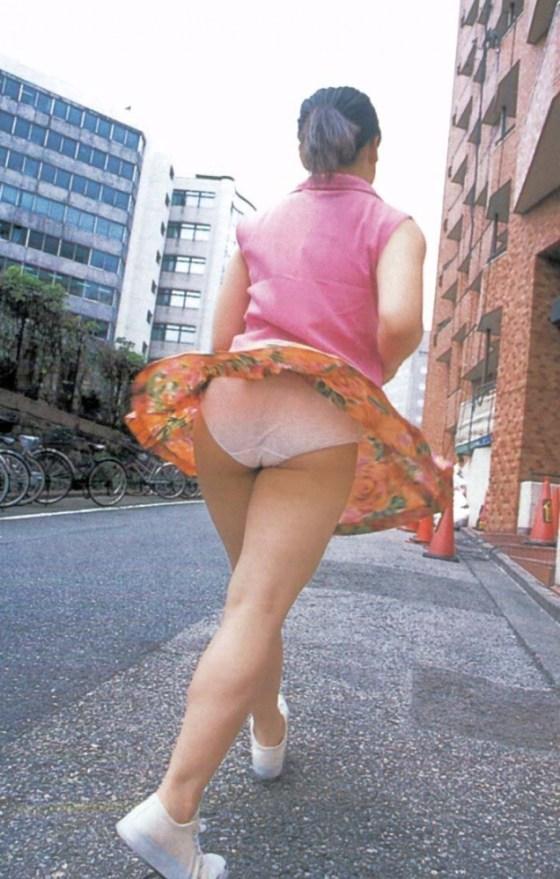 【パンチラ画像】風の強い日に気を抜いた女の結果がこんな感じwww 09