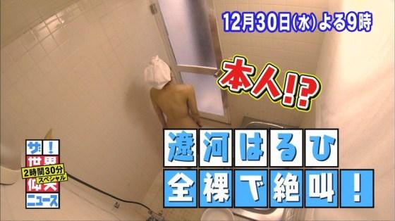 【放送事故画像】温泉レポでいつもバスタオルから半分オッパイ出すんでしょうか?www 13
