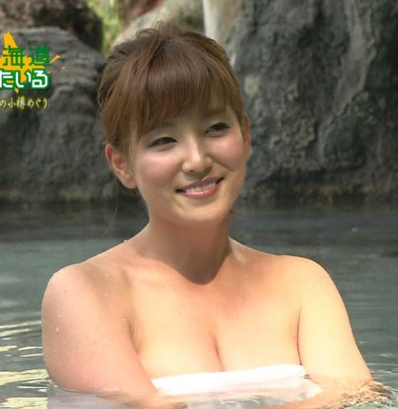 【放送事故画像】マンちら、ポロリに期待のかかる温泉レポ!何も無くても十分エロいけどww 06