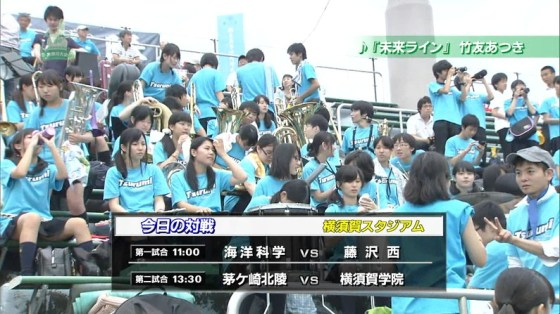 【放送事故画像】甲子園中継でパンチラまで映されてるとは知らず笑顔なJK達ww 05