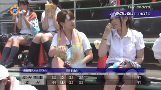 【放送事故画像】甲子園中継でパンチラまで映されてるとは知らず笑顔なJK達ww 19