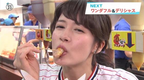 【擬似フェラ画像】芸能人のフェラ顔が拝める食レポがエロすぎてたまらんww 02