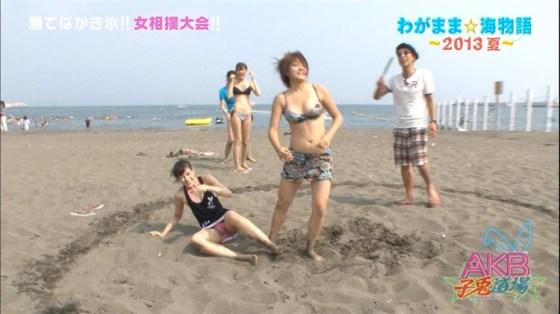 【水着キャプ画像】アイドル達のビキニからこぼれんばかりのオッパイがエロすぎてたまらんww 16