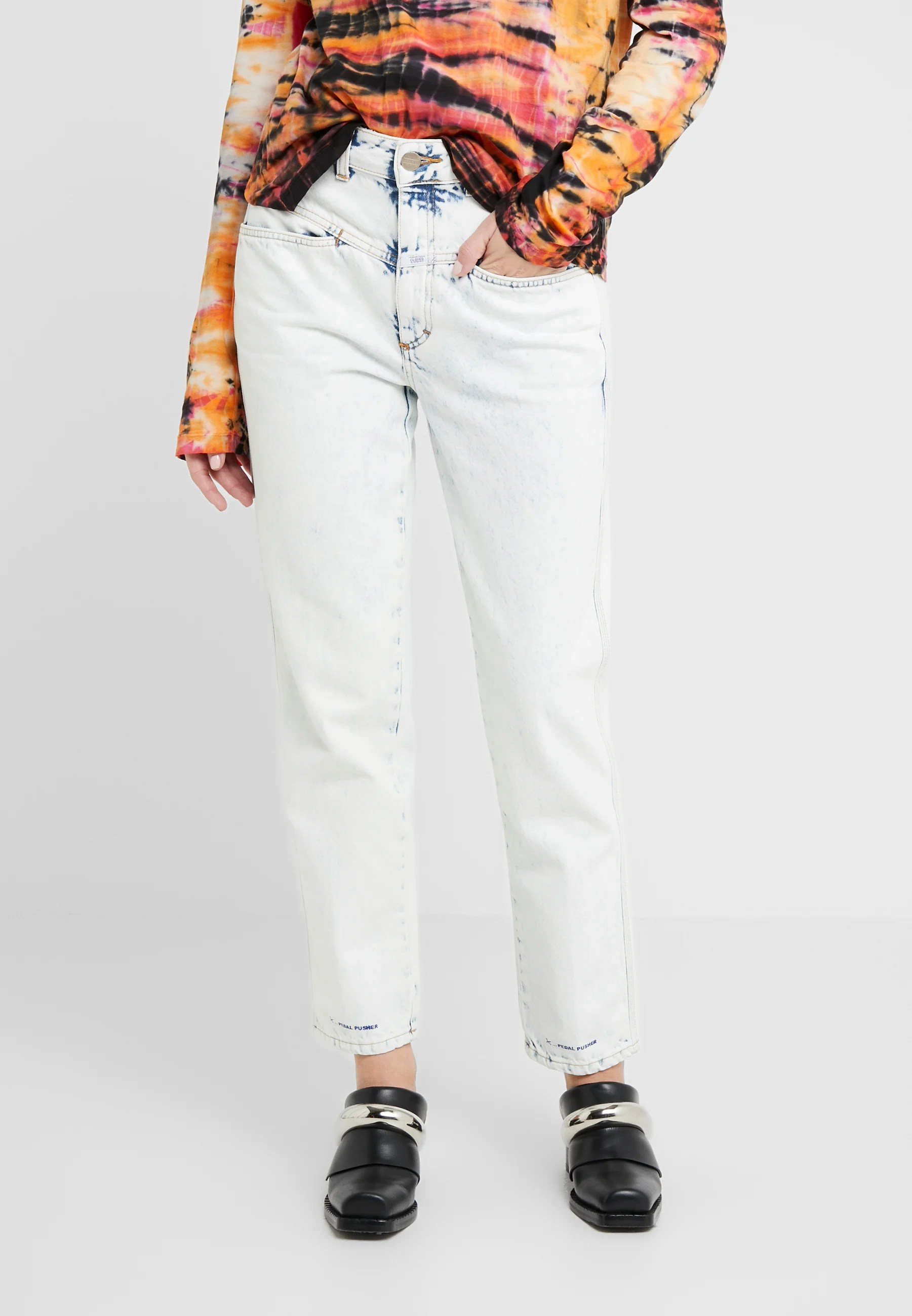 Closed Pedal Pusher High Waist Cropped Length Jeans Relaxed Fit Extrem Light Hellblau Zalando At