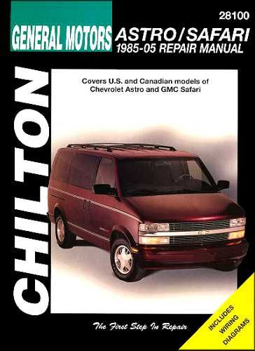 Chevy Astro GMC Safari Mini Van Repair Shop Service Manual 1985 2005