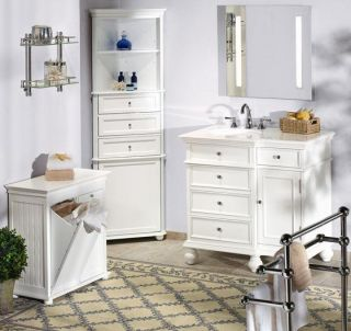 Mission Style Corner Linen Cabinet With Wood Door