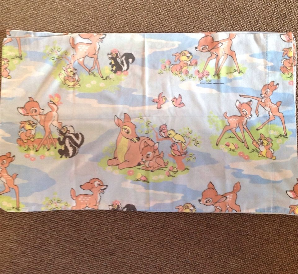 Bettwäsche Bambi Vintage Pair Of Disney Bambi Pillowcases