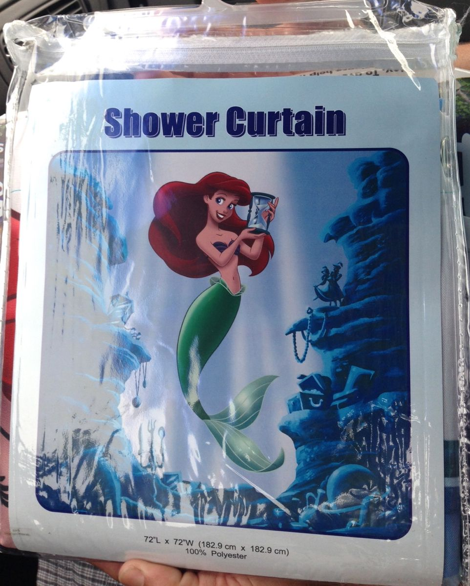 Ariel Shower Curtain Disney Ariel Little Mermaid Fabric Shower Curtain Art Of Animation