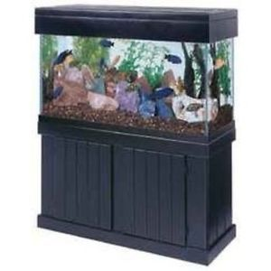 90 Gallon Fish Aquarium Tank Stand Canopy Sump Filter and More