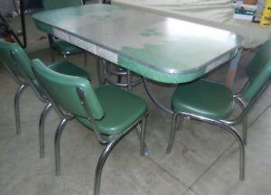 Retro 195039s Vtg Chrome Formica Table 6 Chairs Kitchen