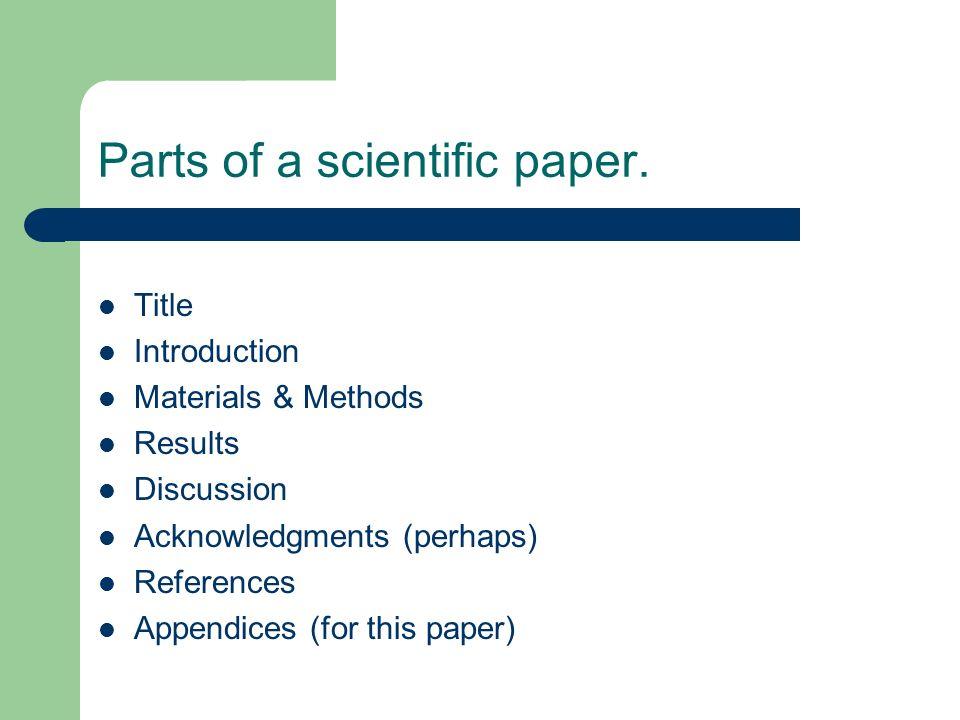 science report examples - Josemulinohouse - scienctific report