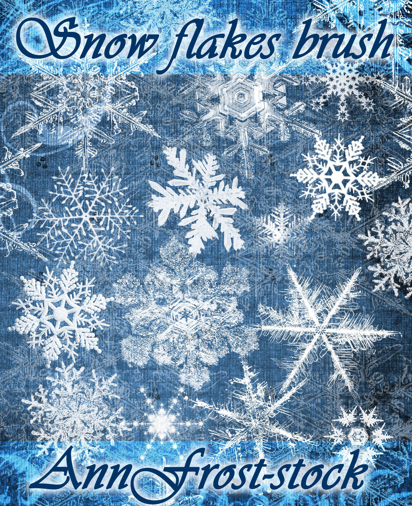 Christmas Falling Snow Wallpaper Note 3 Snow Flakes Brush By Annfrost Stock On Deviantart