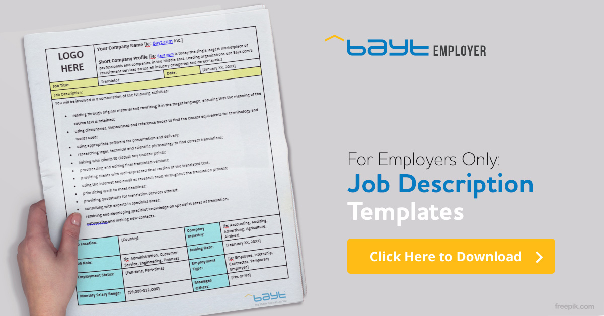 Bayt Job Descriptions - Bayt Blog - Business Development Manager Job Description