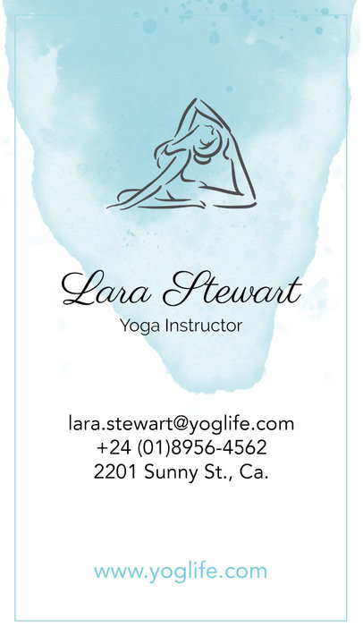 Placeit - Vertical Yoga Business Card Maker
