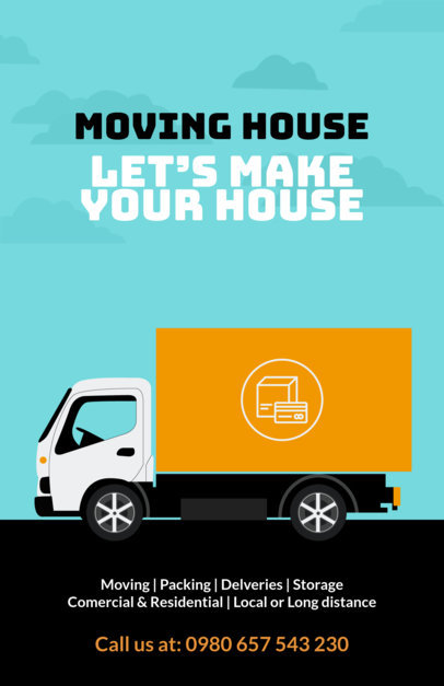 Placeit - Customizable Promotional Flyer Template for Moving Companies