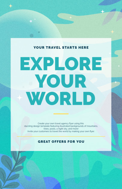 Placeit - Travel Agency Online Flyer Maker
