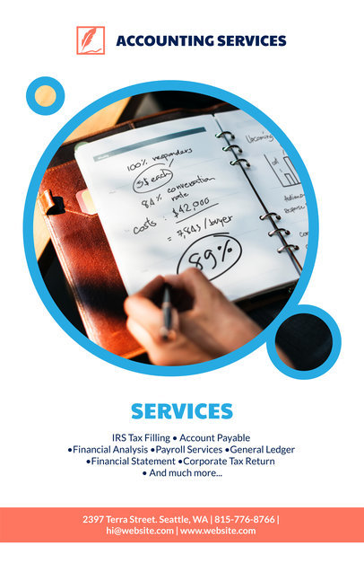 Placeit - Accounting Services Online Flyer Maker
