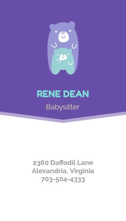 Placeit - Vertical Babysitting Business Card Maker