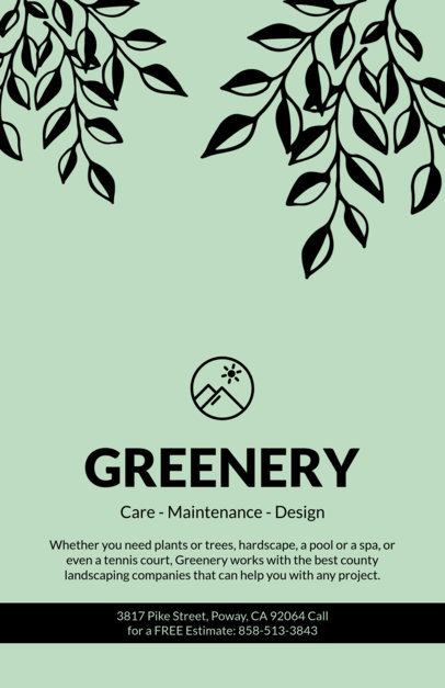 Placeit - Online Flyer Maker for Landscaping Design