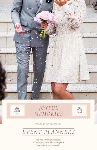 Placeit - Event Planner Flyer Template for a Wedding Planner