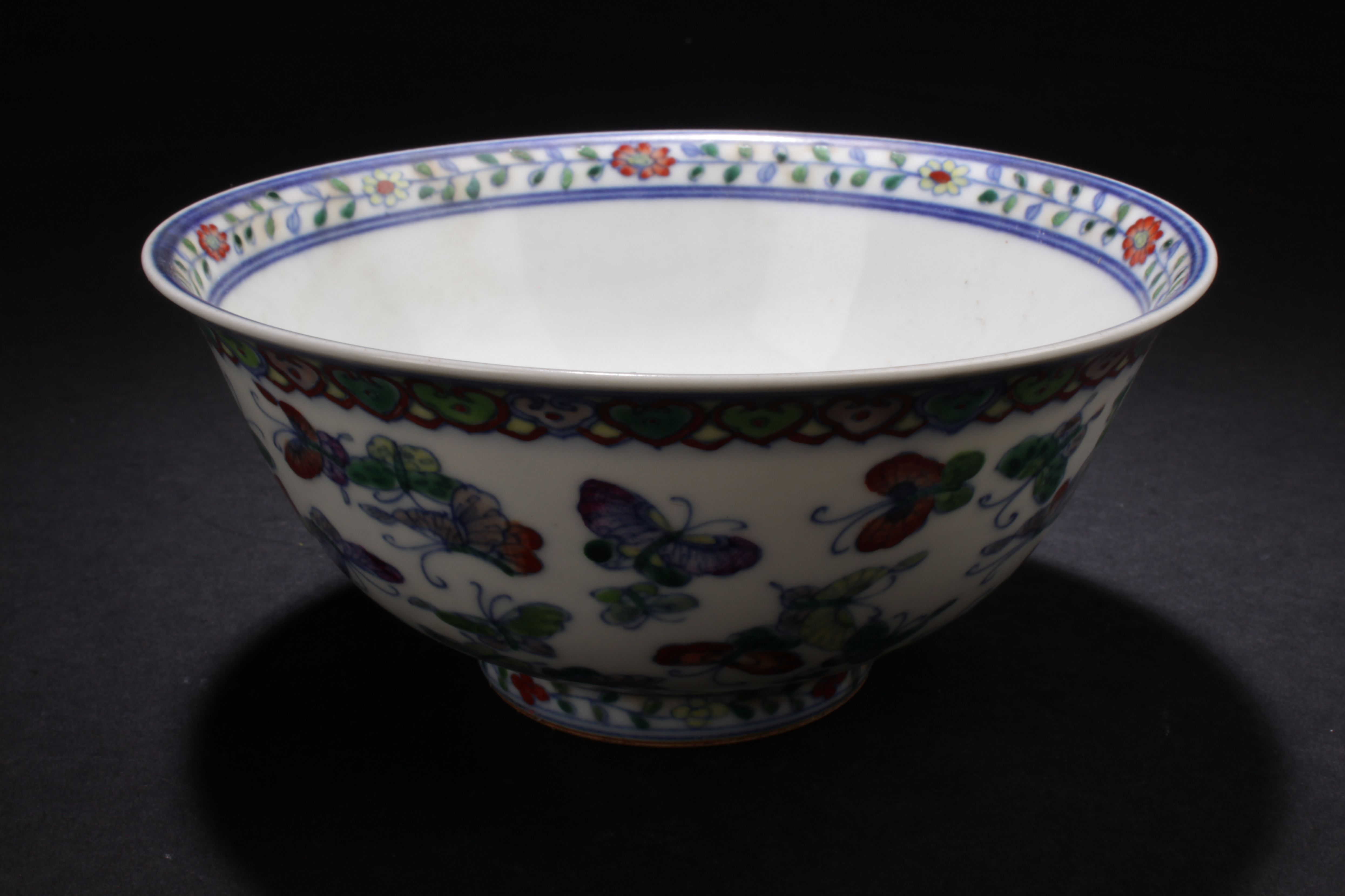 How To Display Bowls An Estate Chinese Butterfly Forutne Porcelain Display Bowl