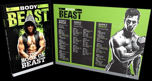 Body Beast Workout - Carve Lean, Defined Muscle \ Burn Fat - beast workout sheet