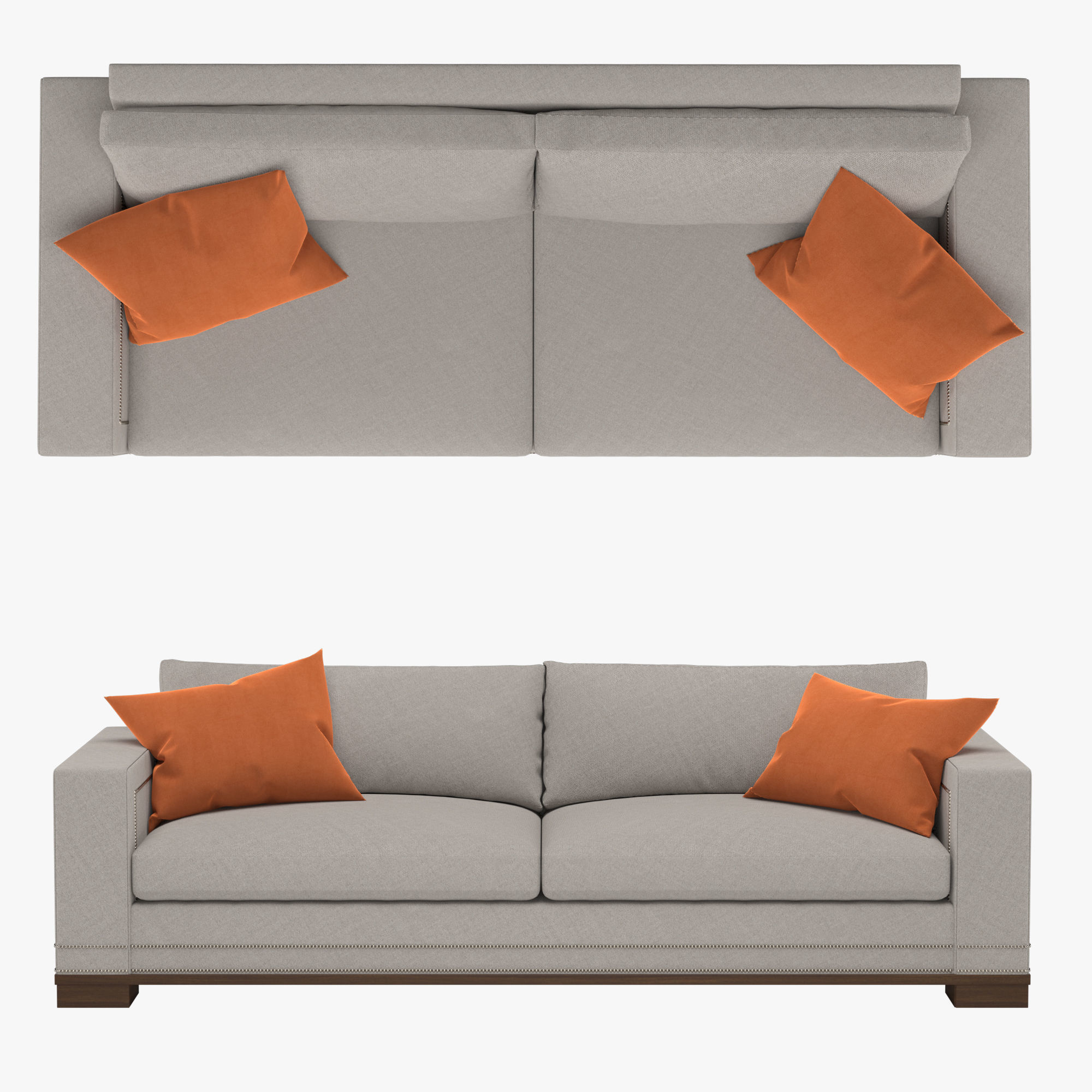 Seat Weiß Vanguard Michael Weiss Abingdon Two Seat Sofa 3d Model
