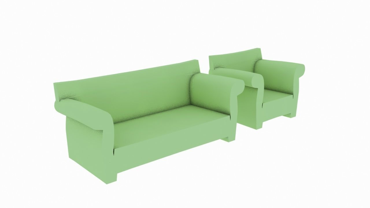 Kartell Sofa Kartell Bubble Sofa 3d Model