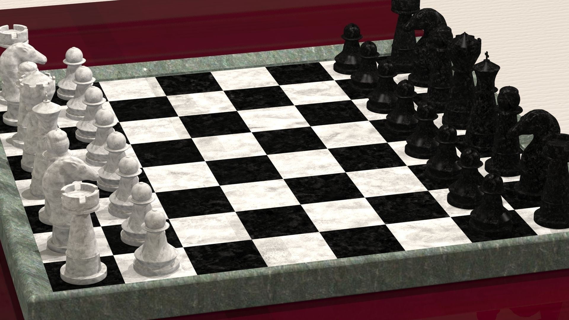 Chest Game Set Chess Board With Pieces 3d Model 3d Printable Obj