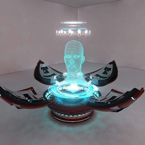 3d Hologram Effect Wallpaper 3d Model Holographic Projector Cgtrader
