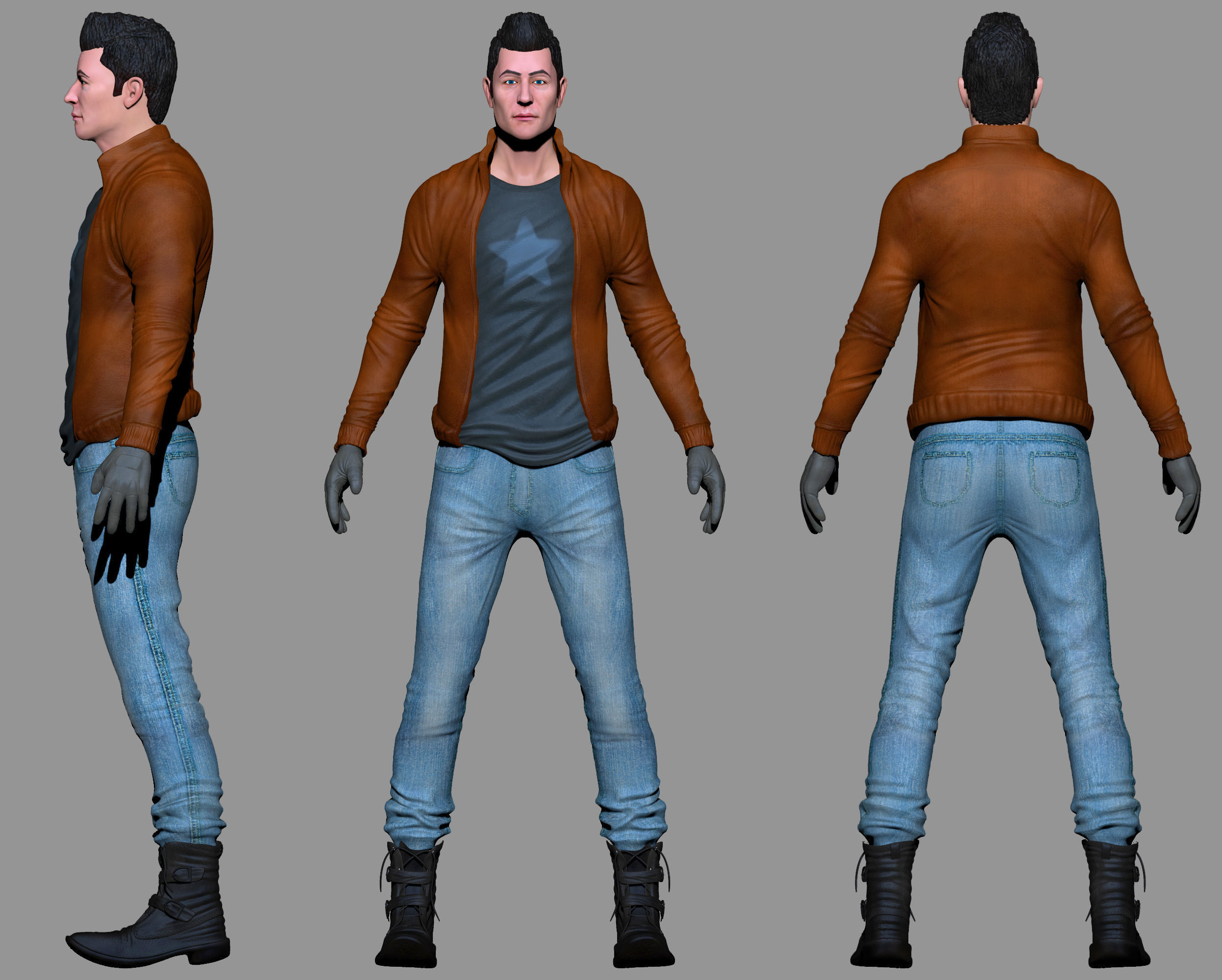 Free 3d Models Character Low Poly Modeling For Game Free 3d Model Obj