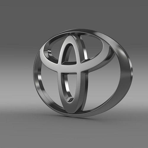 Cars Symbol Wallpaper Toyota Logo 3d Cgtrader