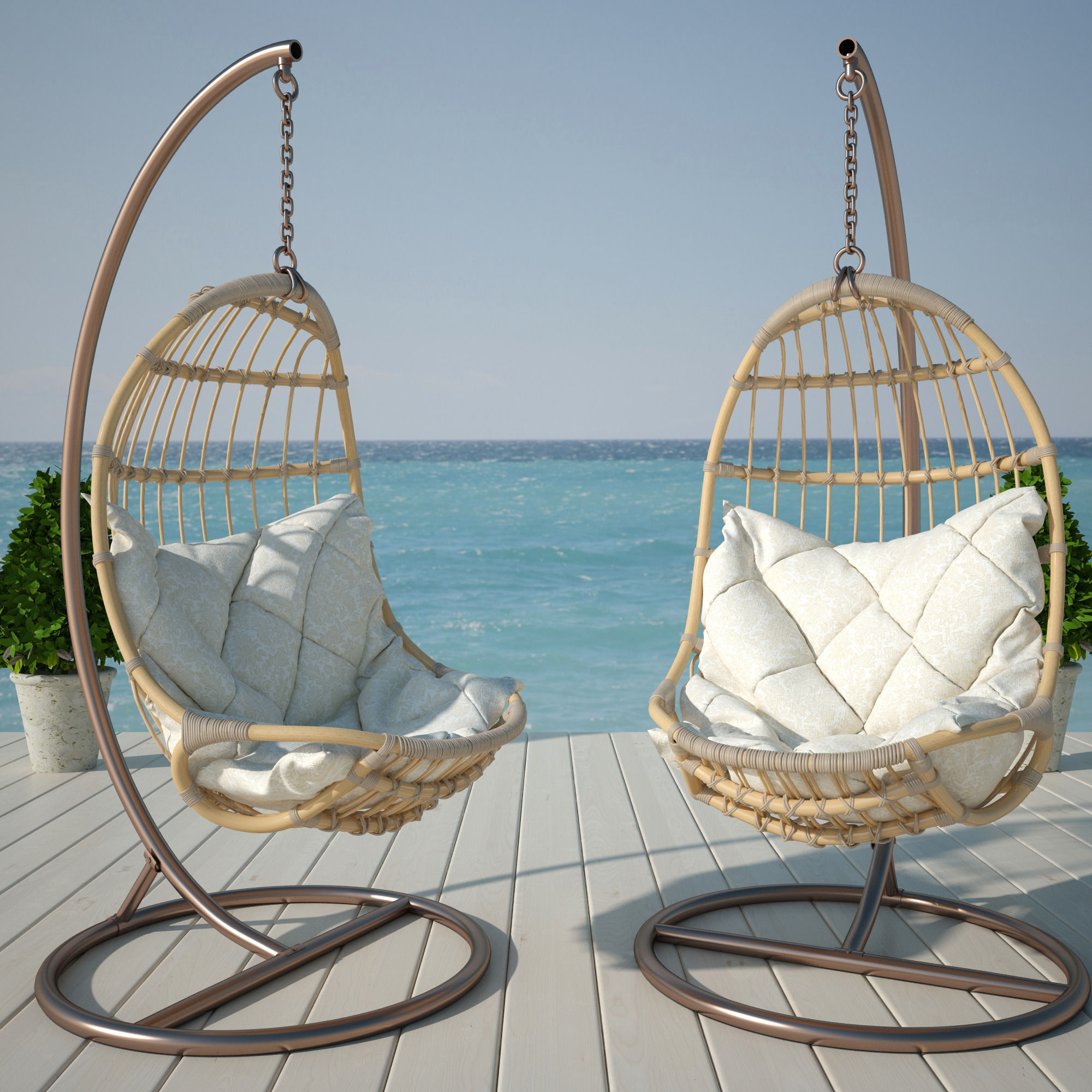 Hanging Outdoor Chairs Hanging Chair 3d Model