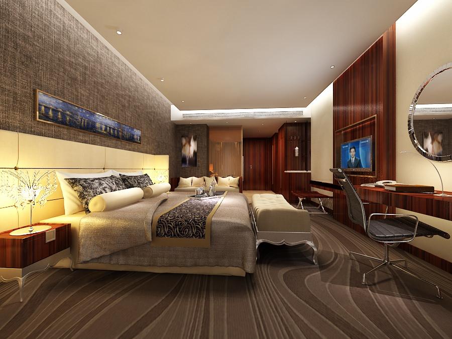 Hotel bedroom b2 32 3d model max cgtrader com