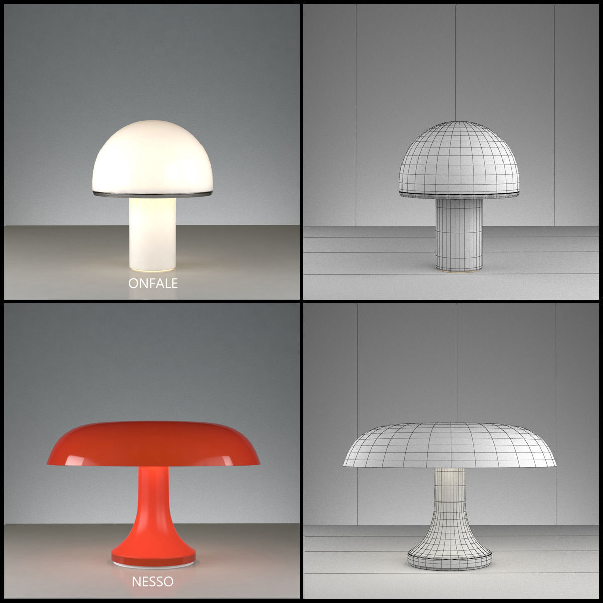 Artemide Nesso Artemide Table Lamps Collection Volume 2 3d Model