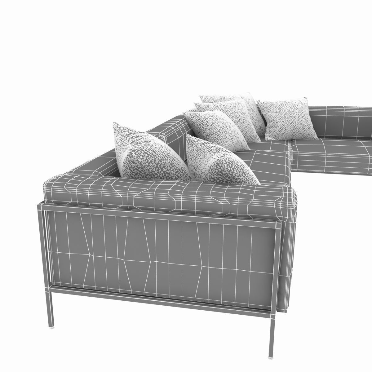 Sofa Module Kettal Landscape Right Corner Module Sofa 3d Model