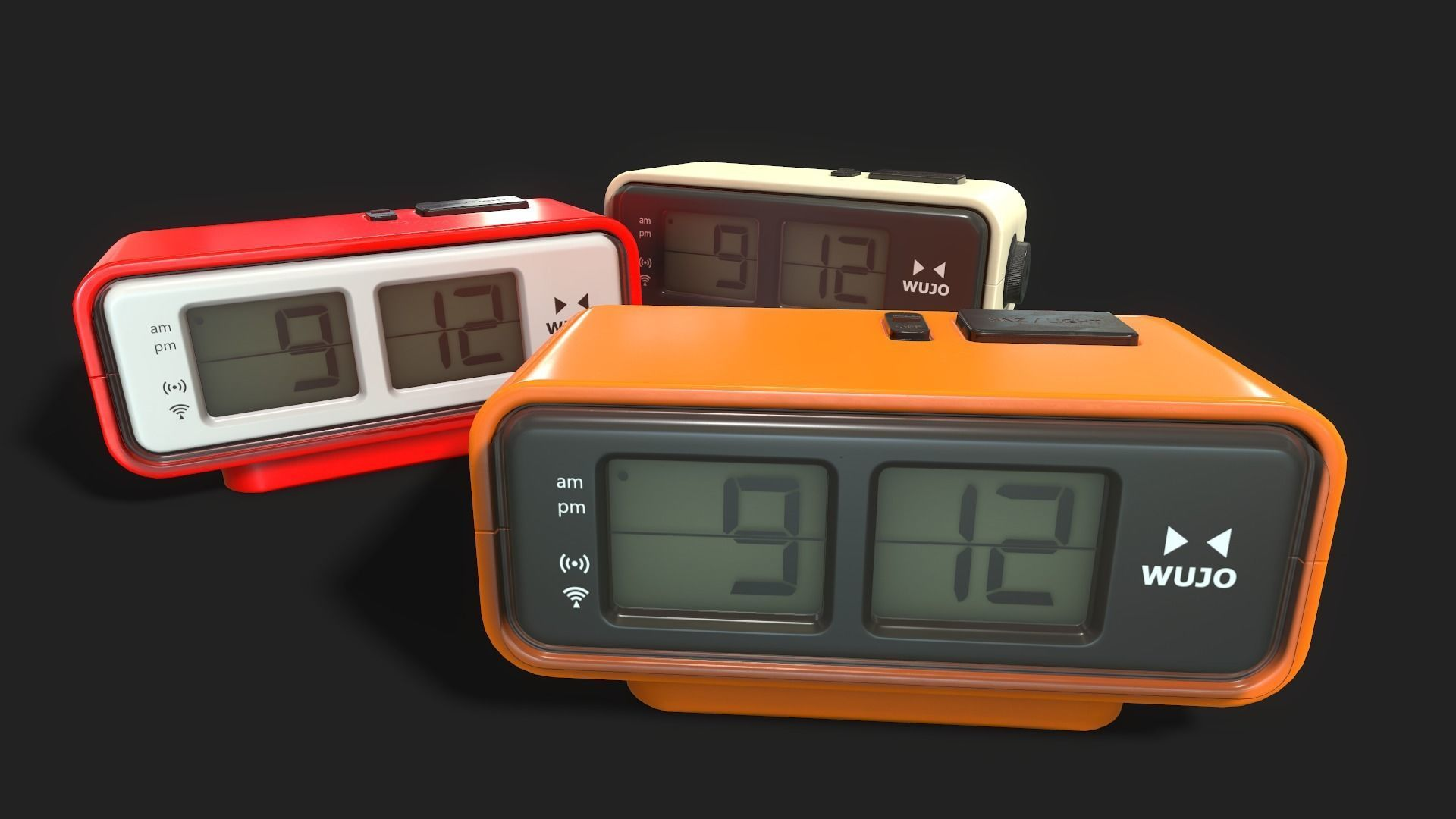 Flip Clock Retro Digital Flip Clock 3d Model