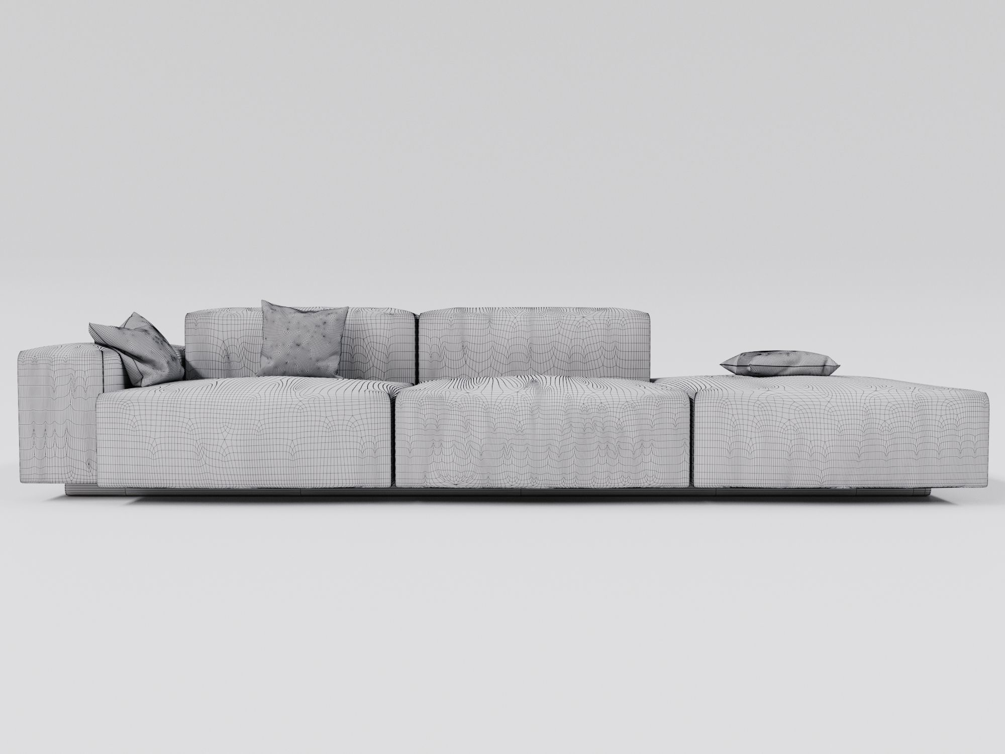 Cheap Modular Lounges Soft Modular Sofa 3d Model